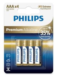Philips  Premium Alkaline AAA (LR03) 4ks