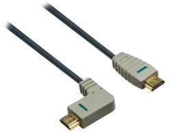 Bandridge BVL1412 - HDMI 1.4, pravé ohnutí 90°, 2m
