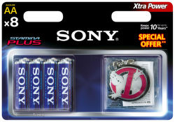 Sony AM3-B8D Stamina Plus AA (LR6), 8ks