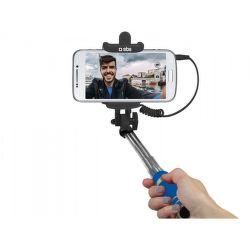 SBS mini selfie tyč s 3,5 mm konektorem 50 cm, modrá