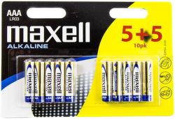Maxell Alkaline AAA (LR03), 10ks
