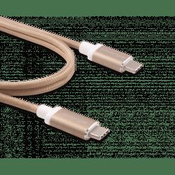 Innergie kabel USB-C a USB-C (zlatá)