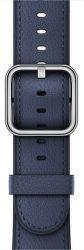 Apple Watch 42mm půlnoční modrý klasický řemínek