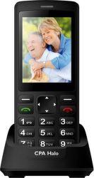 Mobilní telefon CPA Halo PLUS černý s nabíjecím stojánkem