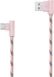 Mobilnet USB Type C kábel 2m, růžový