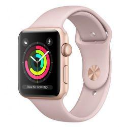 Apple Watch Series 3 38mm zlatý hliník/pískově růžový sportovní řemínek