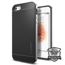 Spigen iPhone 5/5S/SE Case Neo Hybrid, stříbrná