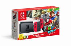 Nintendo Switch + Mario Odyssey červený