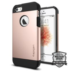 Spigen iPhone 5/5S/SE Case Tough Armor, růžovo-zlatá
