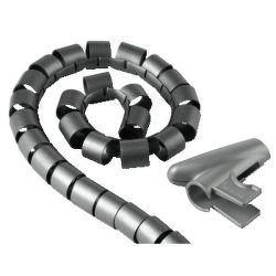 HAMA 20601 trubice pro vedení kabelů, 1,5 m 30 mm stříbrná