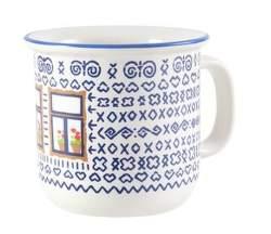 Štrbské Presso Čičmany s oknem / malý keramický hrnek (0,6 dcl)