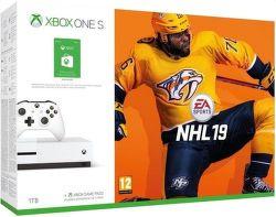 Microsoft Xbox One S 1TB + NHL 19 + 150Kč Xbox Store