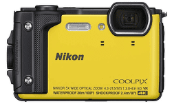 Nikon Coolpix W300 žlutý + plovoucí popruh