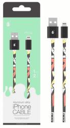 Aligator Plus datový kabel Lightning 1 m 2 A černý s motivem