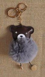 PomPom klíčenka medvídek