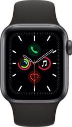 Apple Watch Series 5 40mm vesmírné šedý hliník s černým sportovním řemínkem