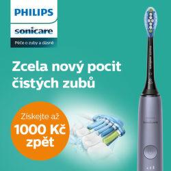 Cashback až 1 000 Kč na zubní kartáčky Philips Sonicare