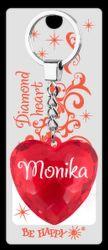Monika klíčenka srdíčko