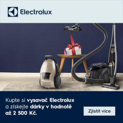 K vysavačům Electrolux dárky v hodnotě až 2 500 Kč