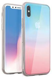 Uniq Glaze Ombre Pastel Dreams pouzdro pro Apple iPhone Xs/X, růžová