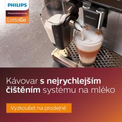 Přijďte si vyzkoušet kávovar s nejrychlejším čištěním systému na mléko Philips LatteGo
