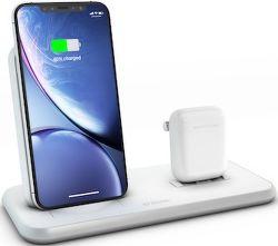 Zens Stand + Dock Aluminium bezdrátová nabíječka 10W Qi, bílá