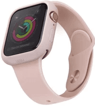 Uniq Lino Hybrid 44 mm pouzdro pro Apple iPhone Series 5, růžová