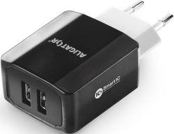 Aligator Smart IC 2x USB síťová nabíječka 3,4A, černá