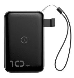 Baseus Mini S powerbanka s bezdrátovým nabíjením 10000 mAh, černá