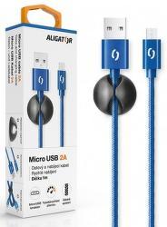 Aligator datový kabel Micro USB 1 m 2 A modrý