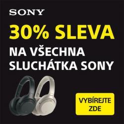 Dodatečná 30 % sleva na všechna sluchátka Sony