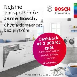Získejte zpět až 2 000 Kč u vybraných myček, praček a sušiček Bosch