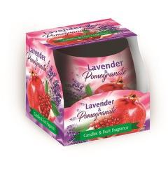 Sweet Home granátové jablko a levandule vonná svíčka