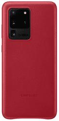 Samsung Leather Cover pro Samsung Galaxy S20 Ultra, červená