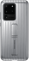 Samsung Protective Standing Cover pro Samsung Galaxy S20 Ultra, stříbrná