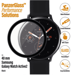 PanzerGlass ochranné sklo pro smart hodinky Samsung Galaxy Watch Active 2 40 mm černá