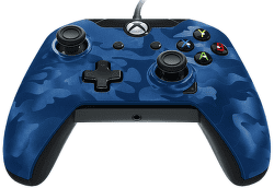 PDP Wired Controller pro Xbox One CAMO modrý