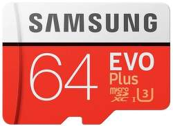 Samsung Micro SDXC 64 GB EVO Plus + SD adaptér
