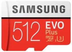 Samsung Micro SDXC 512 GB EVO Plus + SD adaptér