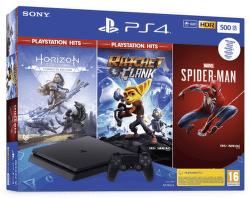 PlayStation 4 Slim 500 GB + Spider-Man, Horizon Zero Dawn, Ratchet & Clank