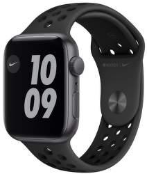Apple Watch Nike SE 44 mm vesmírné šedý hliník s antracitovo černým sportovním řemínkem Nike