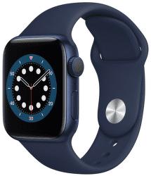 Apple Watch Series 6 40 mm modrý hliník s námořnicky modrým sportovním řemínkem