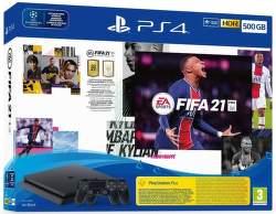 PlayStation 4 Slim 500 GB + 2× herní ovladač + FIFA 21