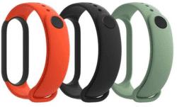 Xiaomi Mi Band 5 3 ks řemínků černá/oranžová/tyrkysová