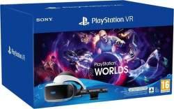 PlayStation VR v2 + kamera v2 + adaptér pro PS5 + hra VR Worlds