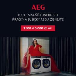 Cashback až 5 000 Kč na sušičky nebo sety AEG