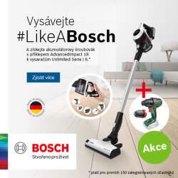 Získejte AKU šroubovák k vysavačům Bosch Unlimited