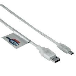 Hama datový kabel Mini USB 0,75 m transparentní
