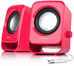 SPEEDLINK SL-8002-BY SNAPPY Stereo Speakers, berry