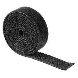 Hama 20543 univerzální stahovací páska, suchý zip, 1m (černá)